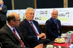 Návštěva prezidenta republiky Miloše Zemana v Rudníku